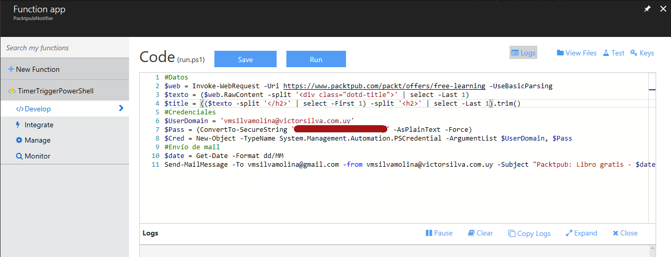 Azure Functions - Código